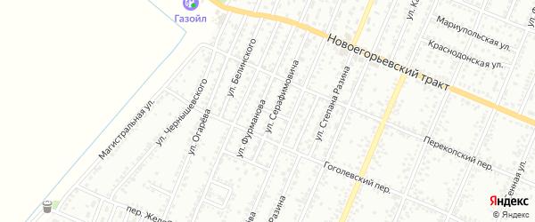 Улица Радищева на карте Рубцовска с номерами домов