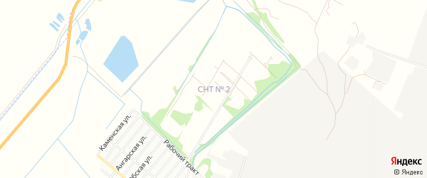 Карта садового некоммерческого товарищества N 7 города Рубцовска в Алтайском крае с улицами и номерами домов