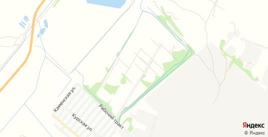 Карта садового некоммерческого товарищества N 14 в Рубцовске с улицами, домами и почтовыми отделениями со спутника онлайн