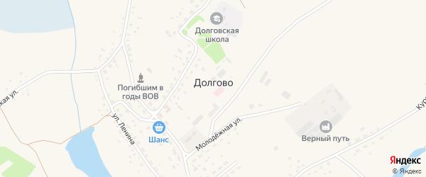 Улица 40 лет Октября на карте села Долгово с номерами домов
