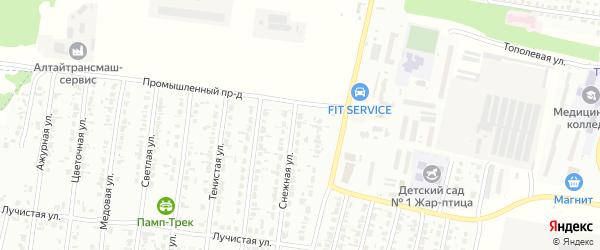 Снежная улица на карте садового некоммерческого товарищества N 3 с номерами домов
