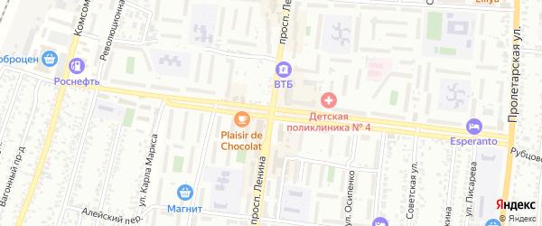 Бурлинская улица на карте Рубцовска с номерами домов