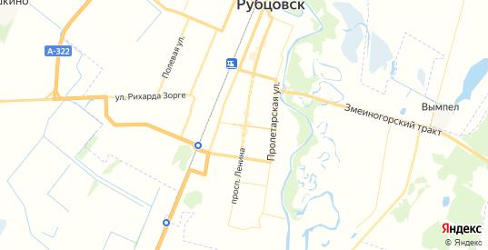 Карта Рубцовска с улицами и домами подробная. Показать со спутника номера домов онлайн