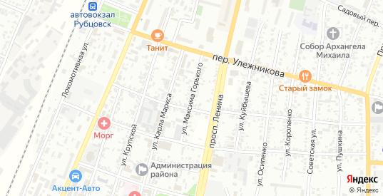 Улица Максима Горького в Рубцовске с номерами домов на карте. Спутник и схема онлайн