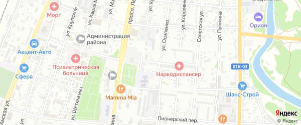 Сельский 2-й переулок на карте Рубцовска с номерами домов