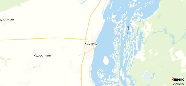 Крутиха на карте