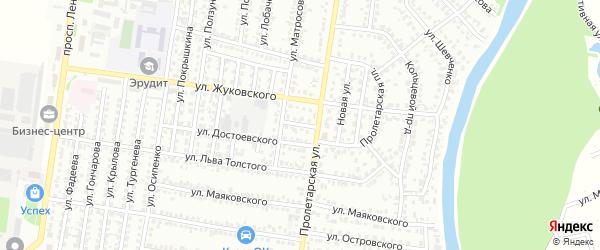 Улица Добролюбова на карте Рубцовска с номерами домов