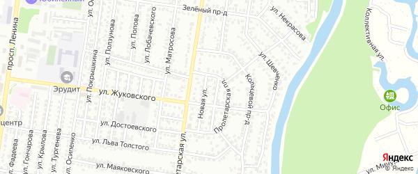 Новая улица на карте садового некоммерческого товарищества N 3 с номерами домов