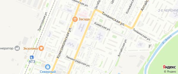 Харьковская улица на карте Рубцовска с номерами домов