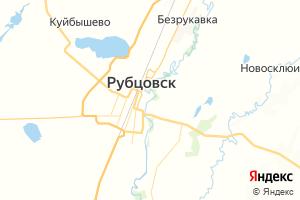 Карта г. Рубцовск Алтайский край