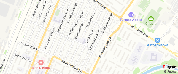Бийская улица на карте Рубцовска с номерами домов
