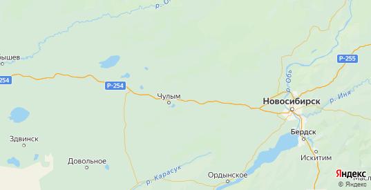 Карта Чулымского района Новосибирской области с городами и населенными пунктами