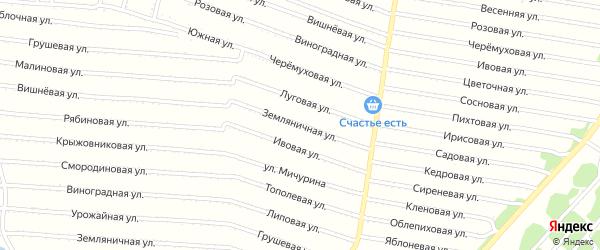 Земляничная улица на карте садового некоммерческого товарищества N 7 с номерами домов