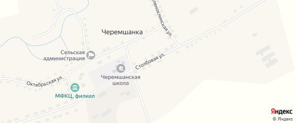 Столбовая улица на карте села Черемшанки с номерами домов
