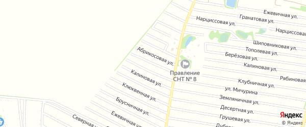 Персиковая улица на карте садового некоммерческого товарищества N 7 с номерами домов