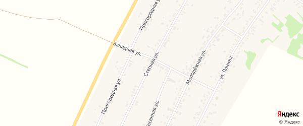 Степная улица на карте села Безрукавки Алтайского края с номерами домов