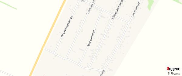Весенняя улица на карте села Безрукавки Алтайского края с номерами домов