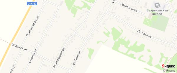 Улица Ленина на карте села Безрукавки Алтайского края с номерами домов