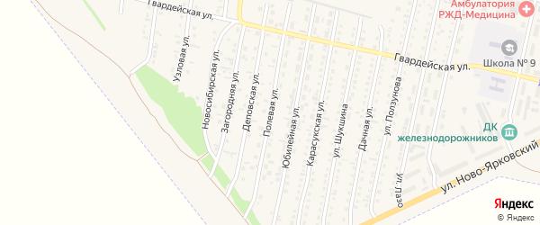 Полевая улица на карте Камень-на-Оби с номерами домов