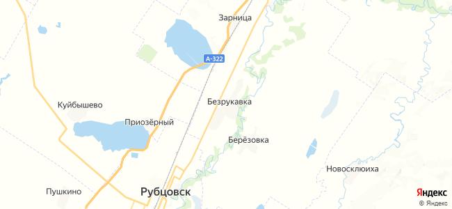 Безрукавка на карте
