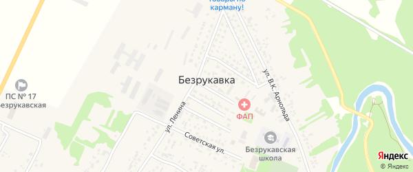 Улица Безрукавка на карте села Безрукавки Алтайского края с номерами домов