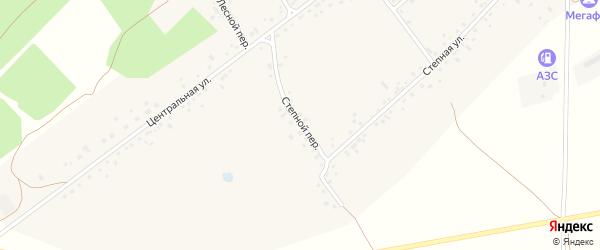 Степной переулок на карте села Гонохово Алтайского края с номерами домов