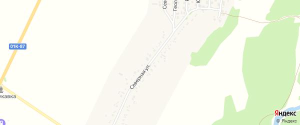 Северная улица на карте села Безрукавки Алтайского края с номерами домов