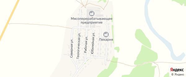 Юбилейная улица на карте села Безрукавки Алтайского края с номерами домов