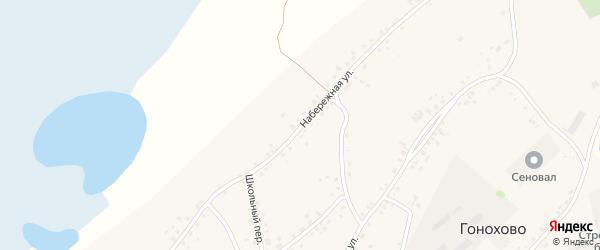 Набережная улица на карте села Гонохово Алтайского края с номерами домов