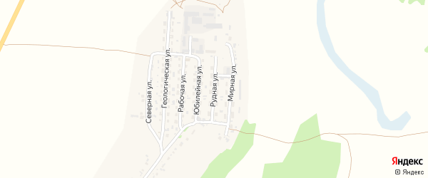 Рудная улица на карте села Безрукавки Алтайского края с номерами домов