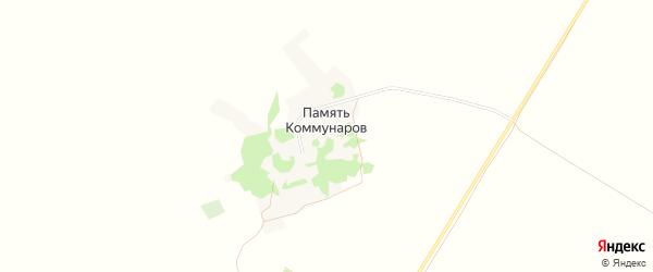 Карта поселка Памяти Коммунаров в Алтайском крае с улицами и номерами домов