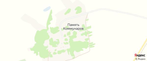 Интернациональная улица на карте поселка Памяти Коммунаров с номерами домов