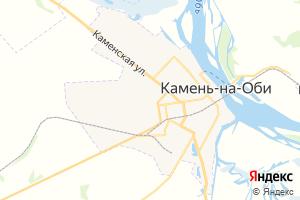 Карта г. Камень-на-Оби Алтайский край