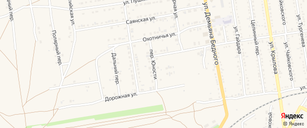 Переулок Юности на карте Камень-на-Оби с номерами домов