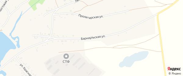 Барнаульская улица на карте села Гонохово Алтайского края с номерами домов
