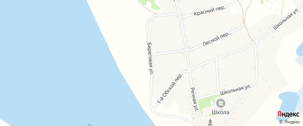 Береговая улица на карте села Дресвянки с номерами домов