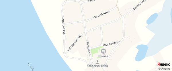 Речная улица на карте села Дресвянки с номерами домов