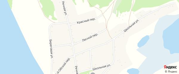 Лесной переулок на карте села Дресвянки с номерами домов