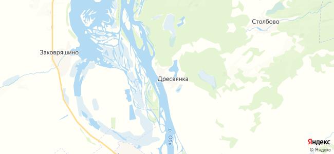 Дресвянка на карте