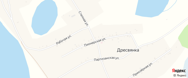 Степная улица на карте села Дресвянки с номерами домов