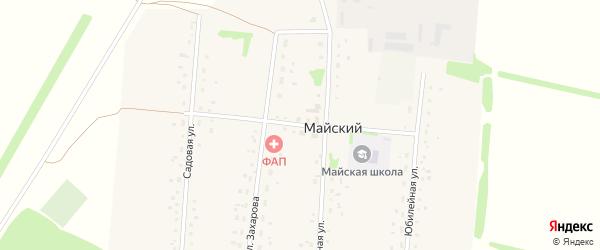 Школьный переулок на карте Майского поселка с номерами домов