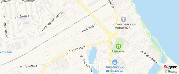 Улица Космонавтов на карте Камень-на-Оби с номерами домов