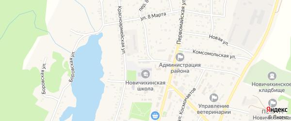 Юбилейный переулок на карте села Новичихи с номерами домов