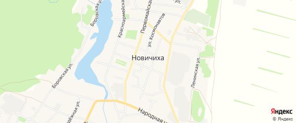 Карта села Новичихи в Алтайском крае с улицами и номерами домов