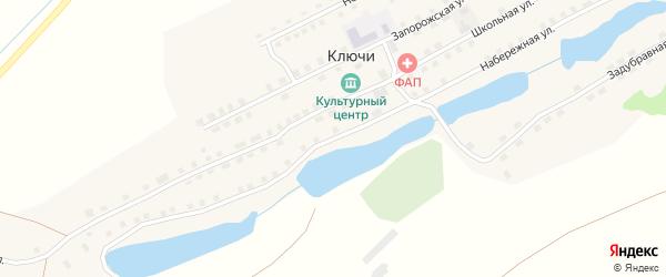 Набережная улица на карте села Ключи с номерами домов