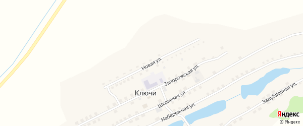 Новая улица на карте села Ключи Алтайского края с номерами домов