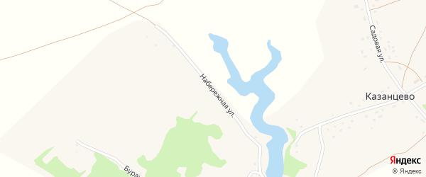 Набережная улица на карте села Казанцево с номерами домов