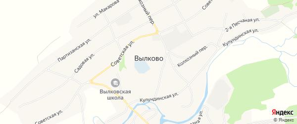 Карта села Вылково в Алтайском крае с улицами и номерами домов