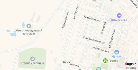 Улица Чапаева в Горняке с номерами домов на карте. Спутник и схема онлайн