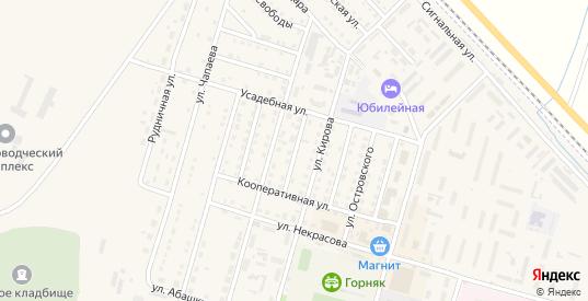 Пролетарская улица в Горняке с номерами домов на карте. Спутник и схема онлайн